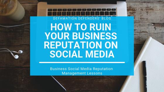 Business Social Media Reputation Management