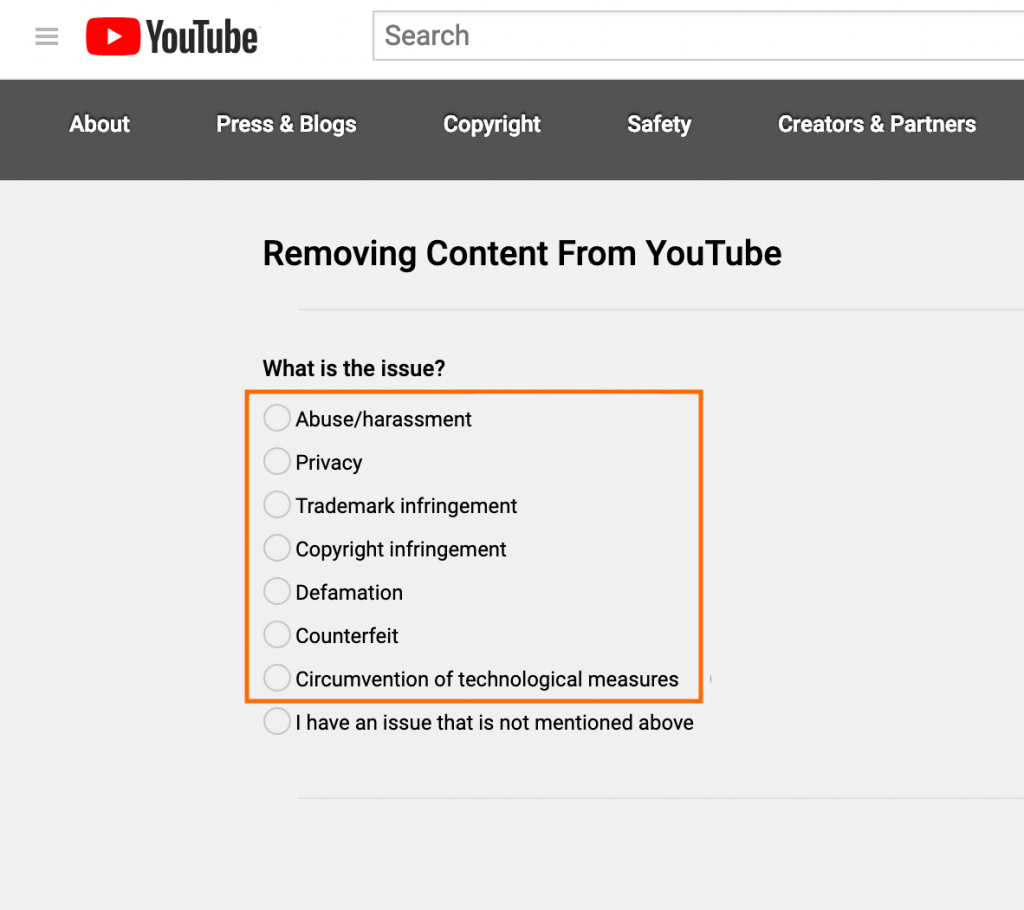 Remove YouTube Videos Google