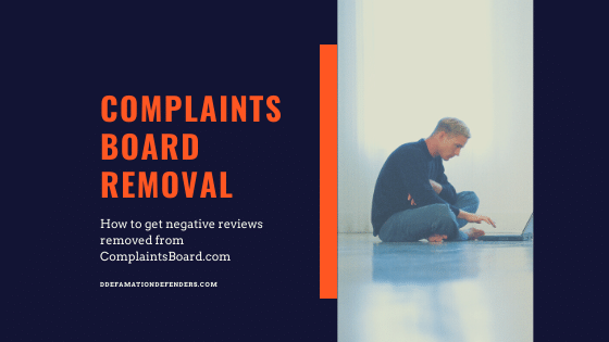 How to remove ComplaintsBoard.com complaints