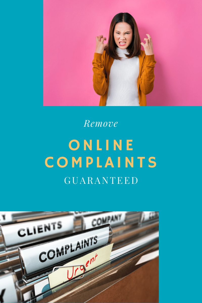 How to Remove Online Complaints from Websites and Search Engines