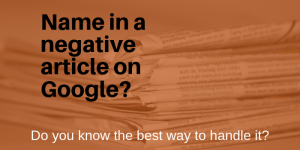 How to Remove Name from Online Article