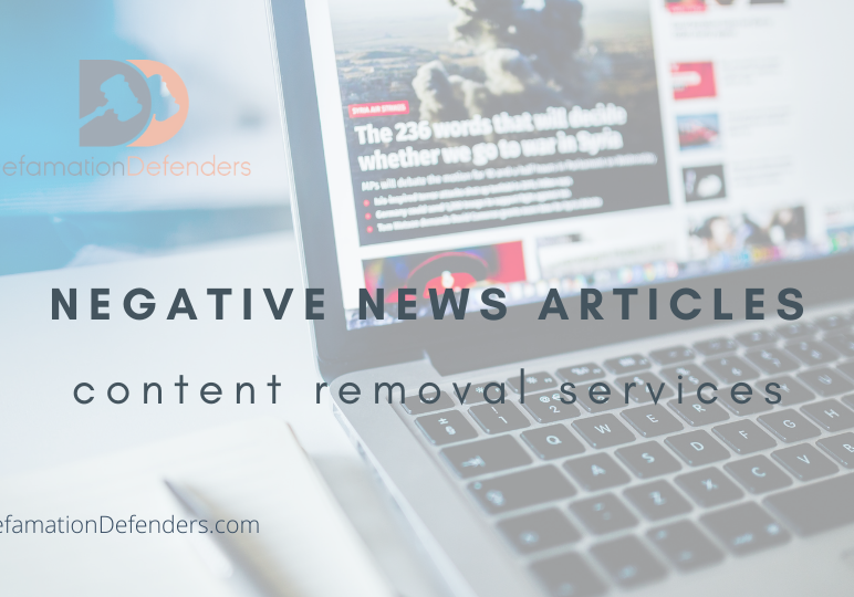 News Article Removal Services | Defamation Defenders
