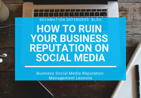Business Social Media Reputation Management