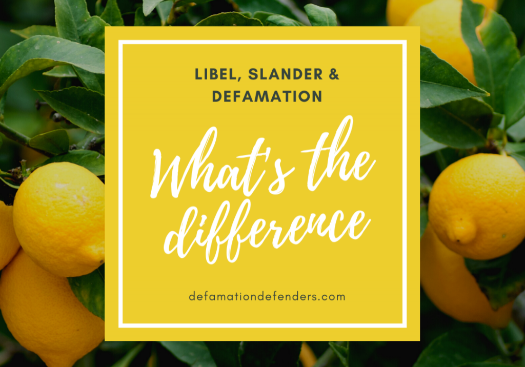 Libel, Slander and Defamation Online